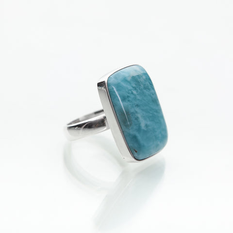 Rectangle Larimar Ring, Abi