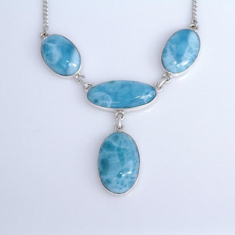 Larimar Necklace, Classic Chic