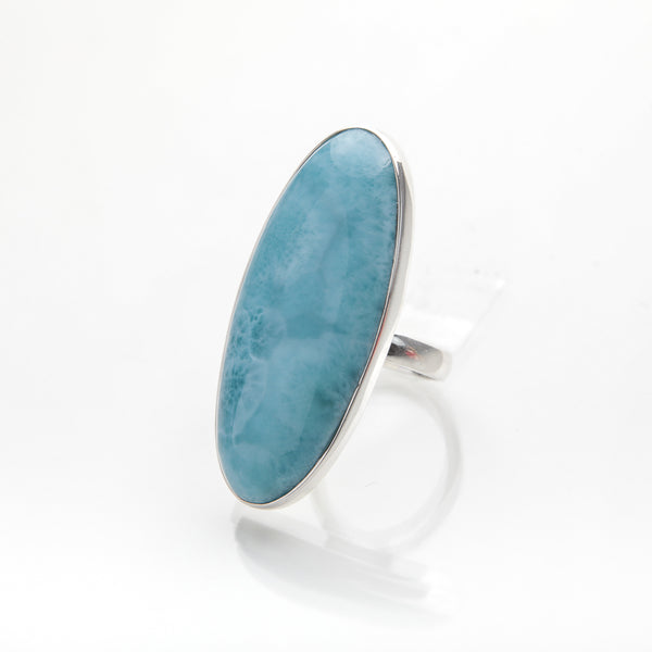 Larimar Long Oval Ring, Daring