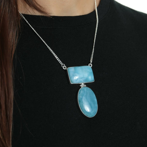 Larimar Necklace Pam