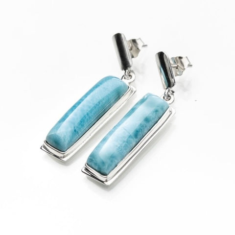 Larimar Earrings, Camu