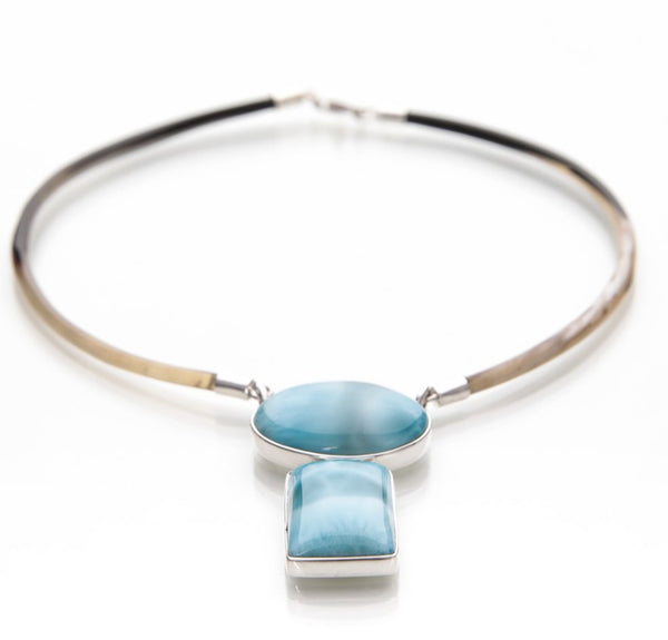 Larimar Necklace, Cool Waters