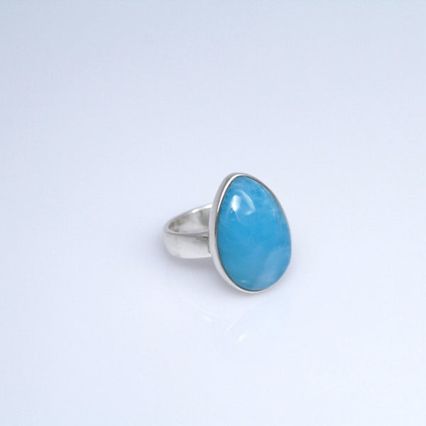 Larimar Ring - Deep of the Caribbean