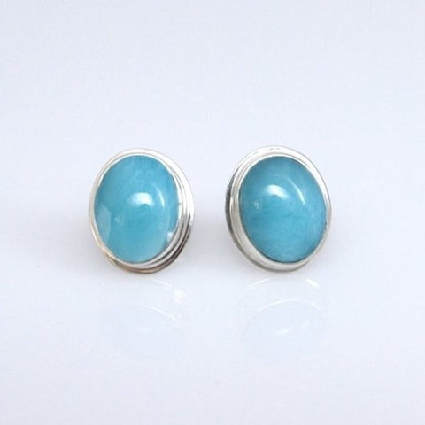 Larimar Studs Earrings, Sweet Drop