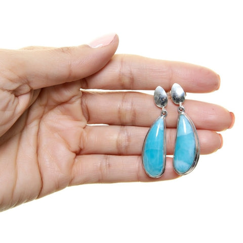 Larimar Earrings, Harvestbells