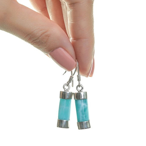 Larimar stone earrings