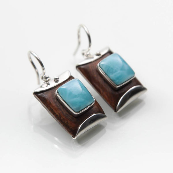 Larimar Guayacan Earrings