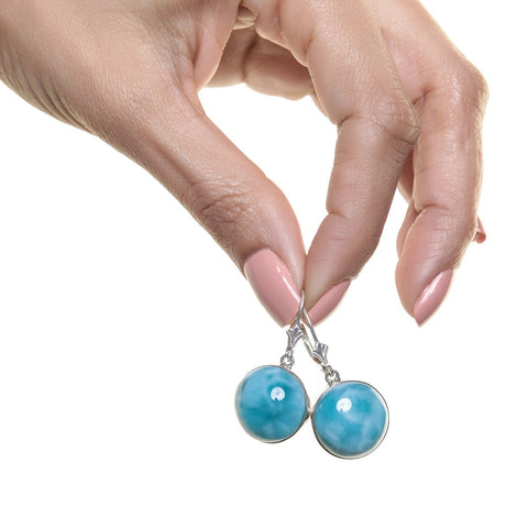 Larimar earrings, Ubi