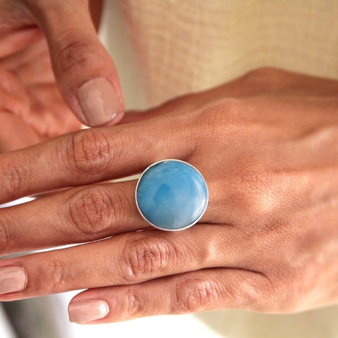 Larimar Ring Round Shape