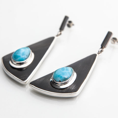 Larimar Earrings, Ciba