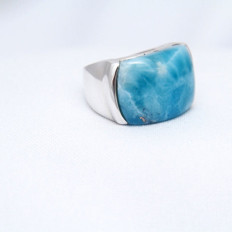 Blue Larimar Ring, Unisex