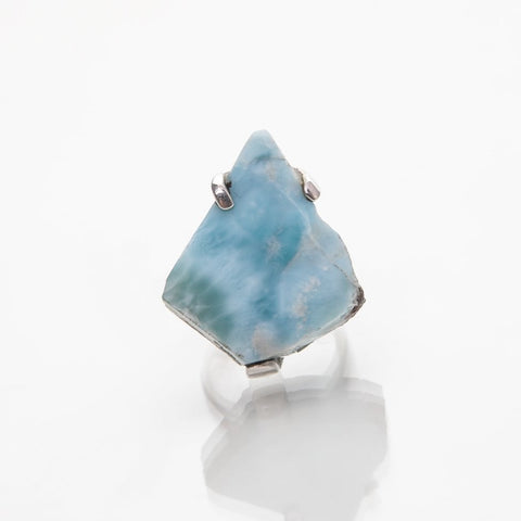 Raw Larimar Ring Aaron