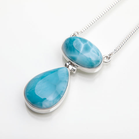 Larimar necklace Blue Dueto