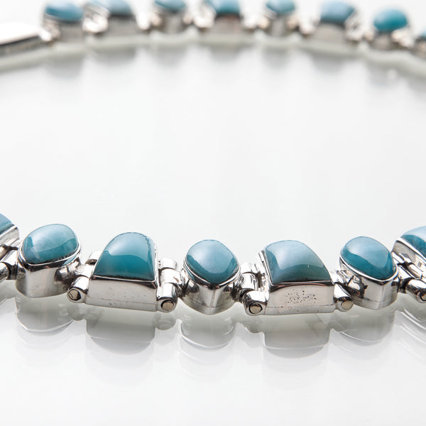 Larimar Necklace and Earrings Set
