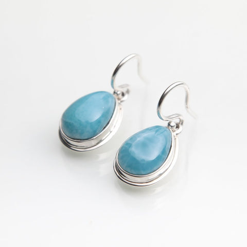 Dominican Larimar Earrings
