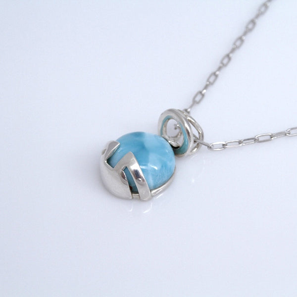 Silver wrapped larimar pendant the larimar shop silver wrapped larimar pendant aloadofball Gallery