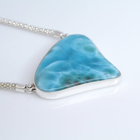 Larimar Necklace, Blue Ninfa