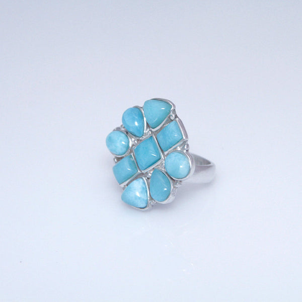 Larimar Ring, Barahona Flower