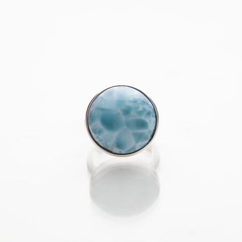 Turtleback Larimar Ring