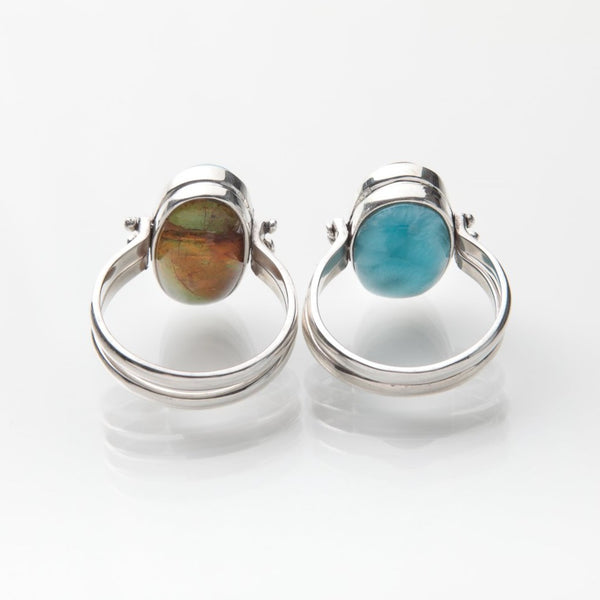 larimar amber reversible ring