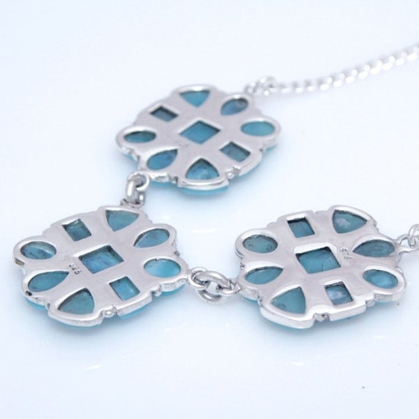 Larimar Necklace, Barahona Flower