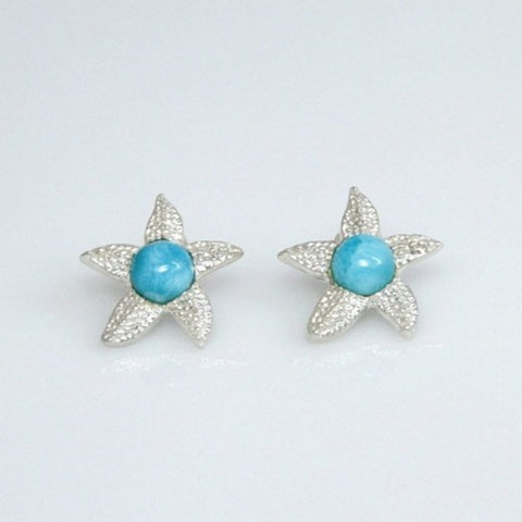 starfish Larimar earrings