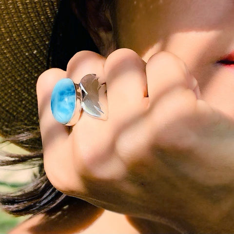 Oval Larimar Ring Dea