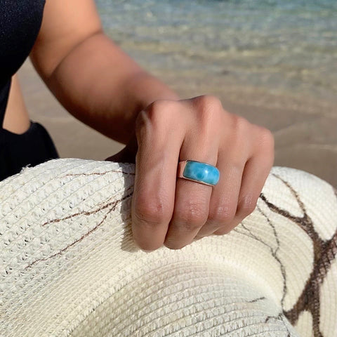 Larimar Band Ring Odda