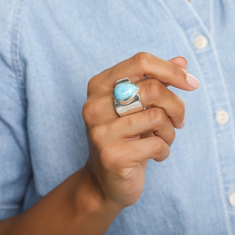 Blue Larimar Ring Tina