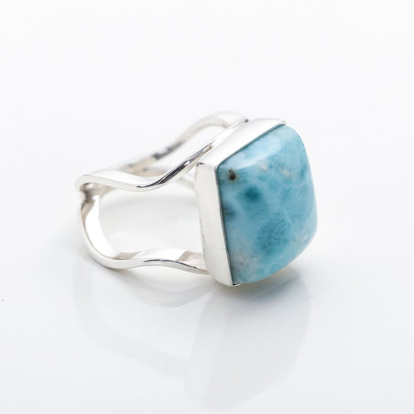 Square Larimar Ring, Carly