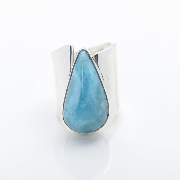 Larimar Statement Ring Maily