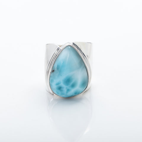 Statement Larimar Ring Mara