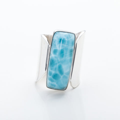 Large Larimar Ring Mabel