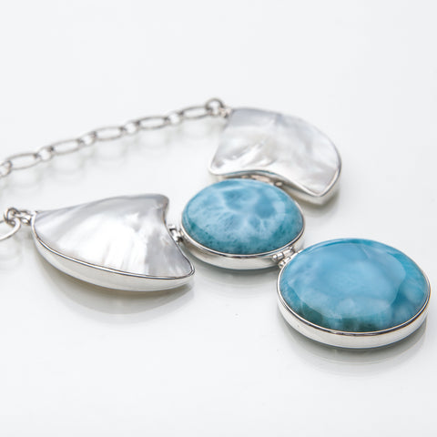 Larimar Statement Necklace, Mia