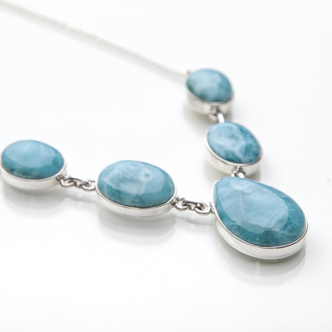 Larimar Necklace, Caribbean Women