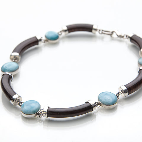 Larimar Necklace, Woodland