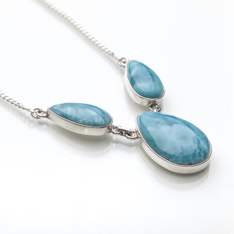 Larimar Necklace, Caribbean Seas