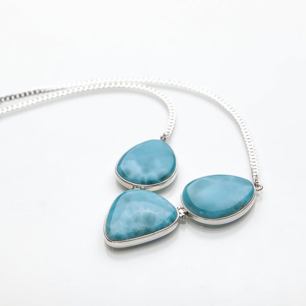 Larimar Necklace, Multistone Style