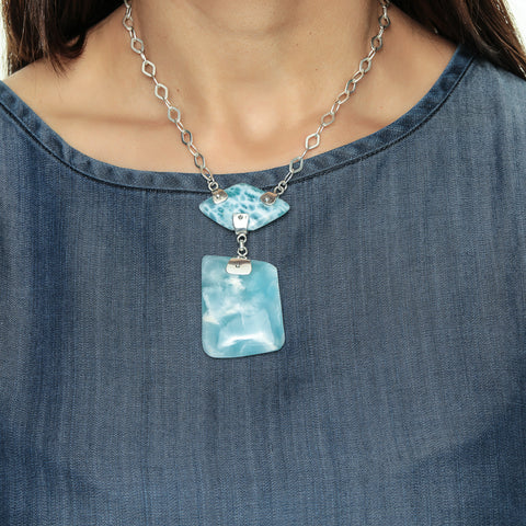 Larimar Necklace, Sea Goddess