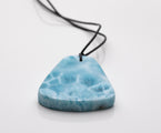 Larimar Leather Necklace, Manuela
