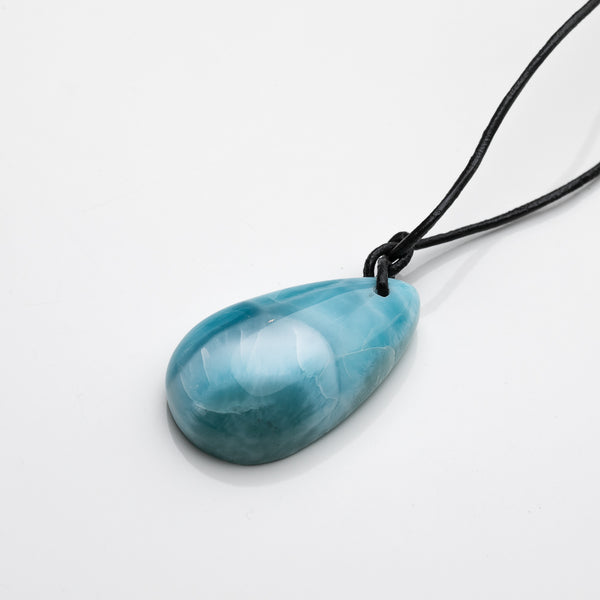 Leather Larimar Necklace, Hannibal