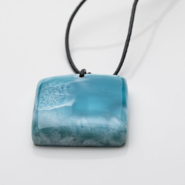 Larimar Leather Necklace, Lorelai