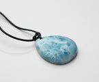 Larimar Leather Necklace, Ronny