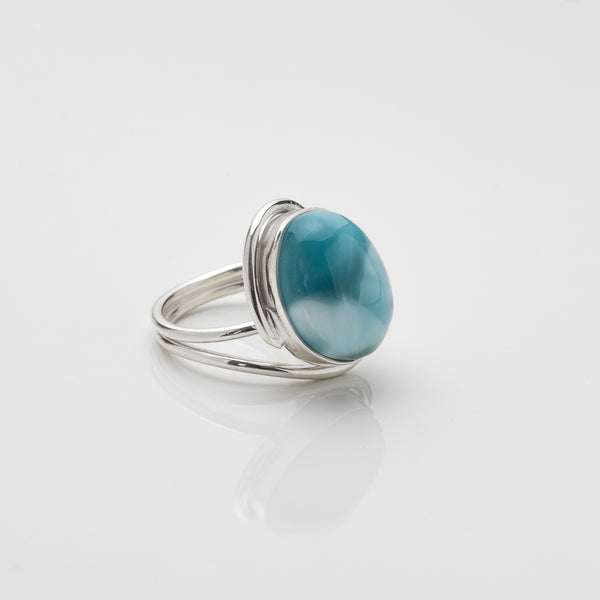 Oval Larimar Ring, Ryan