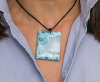 Larimar Leather Necklace, Juliana