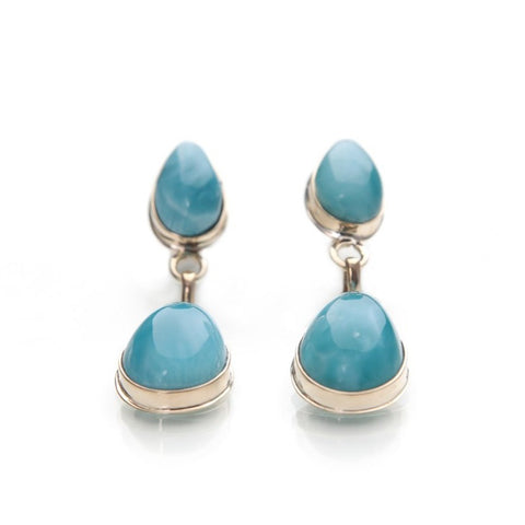 Larimar Gold Earrings, Alouette
