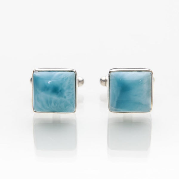 Larimar Cufflinks, Vintage Sea
