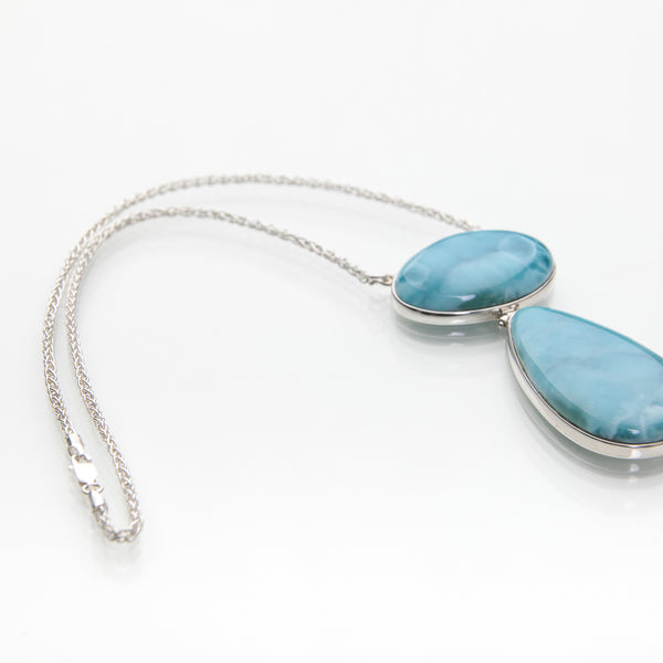 Larimar Necklace, My Way to the Sea