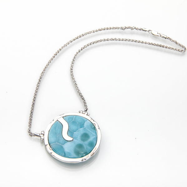Larimar Necklace, Circle of Life