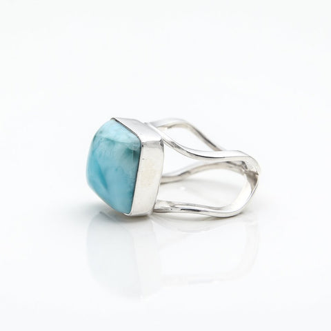 Square Larimar Ring, Kila